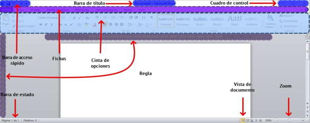 Interfaz Del Procedador De Textos