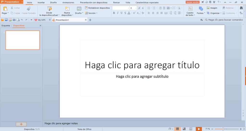 Paquete Office Gratis Presentation